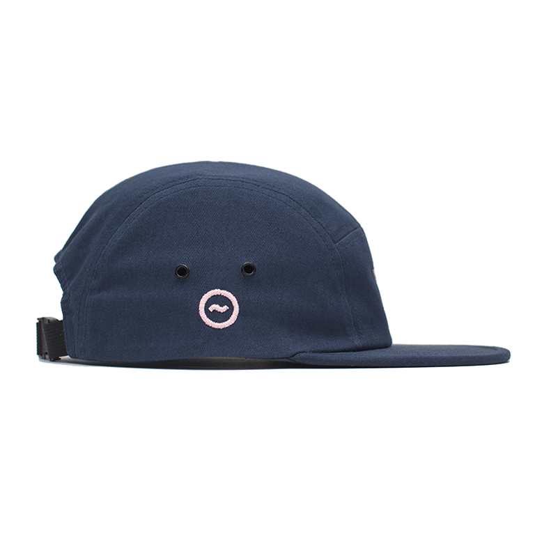 HB 5-PANEL CAP - NAVY/BLUSH