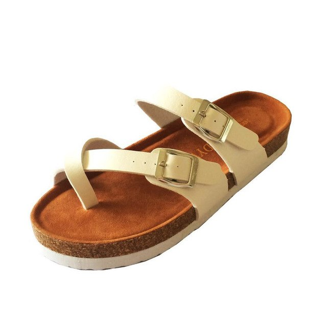 de3a0ebc8ffd Summer Style Shoes Woman Sandals Cork Sandal Good Quality Zapatos Mujer  Casual Slippers Flip Flop Plus