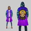 JUST LET THE SH*T GO WITH ALIEN PATTERN HIPPIE HOODED COAT