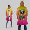 LOVE PEACE JOY IN SUNFLOWER PATTERN HIPPIE HOODED COAT