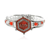 Newest Customized Red Rhinestones Bracelet Delta Sigma Theta Bangle