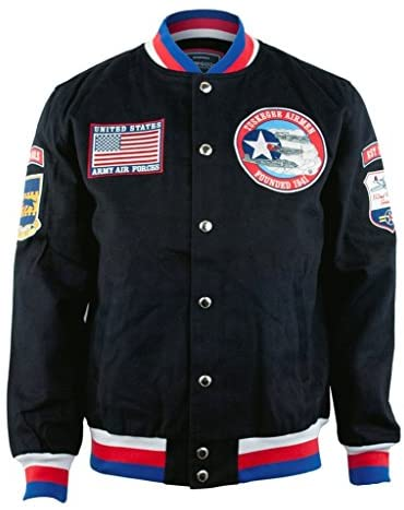 Tuskegee Airmen 332nd New Twill Jacket Medium Black