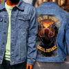 Custom denim jacket with biker denim jacket