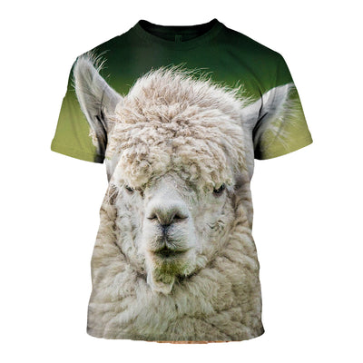 Copy of 3D All Over Printed Alpaca T Shirt Hoodie 121313