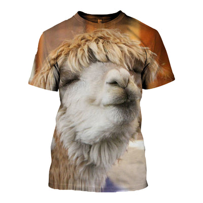 Copy of 3D All Over Printed Alpaca T Shirt Hoodie 121315