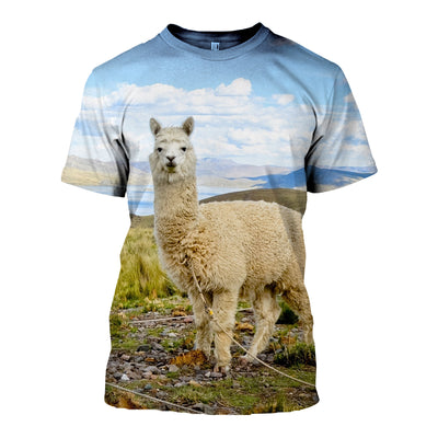 3D All Over Printed Alpaca T Shirt Hoodie 121318