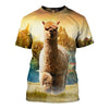 3D All Over Printed Alpaca T Shirt Hoodie 121321
