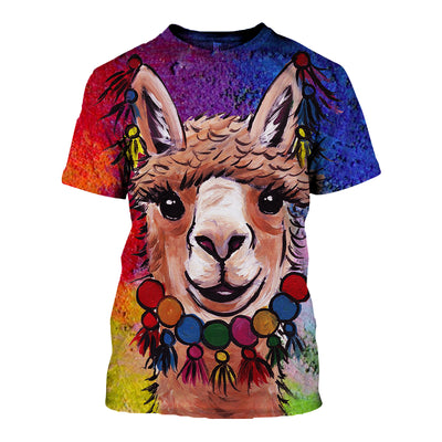 3D All Over Printed Alpaca T Shirt Hoodie 121322