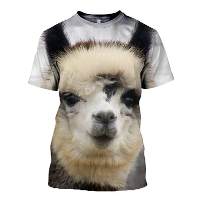 3D All Over Printed Alpaca T Shirt Hoodie 121324