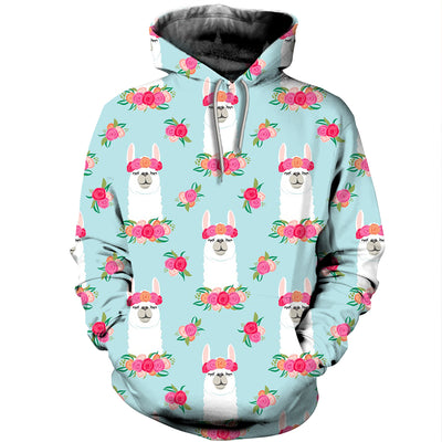 3D All Over Printed Alpaca T Shirt Hoodie 121328
