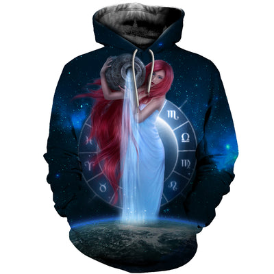 3D All Over Printed Aquarius Zodiac T Shirt Hoodie 30104