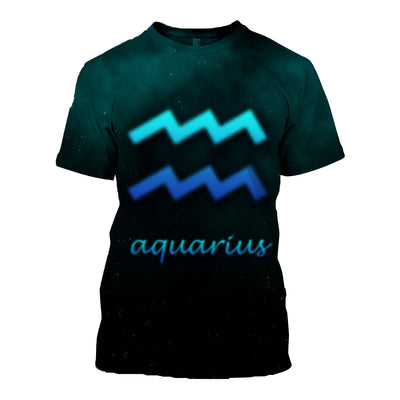 3D All Over Printed Aquarius Zodiac T Shirt Hoodie 30105