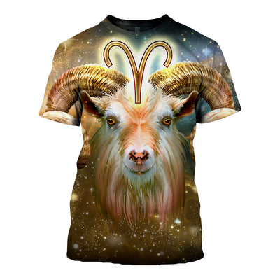 3D All Over Printed Aries T Shirt Hoodie 211201