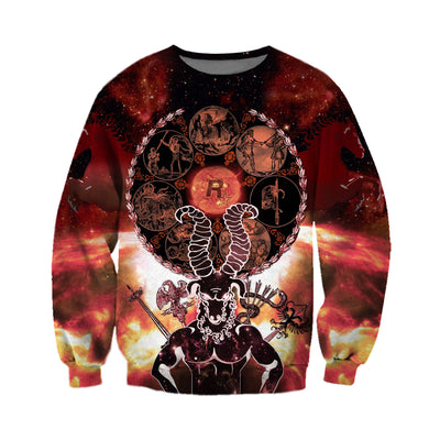 3D All Over Printed Aries T Shirt Hoodie 211202