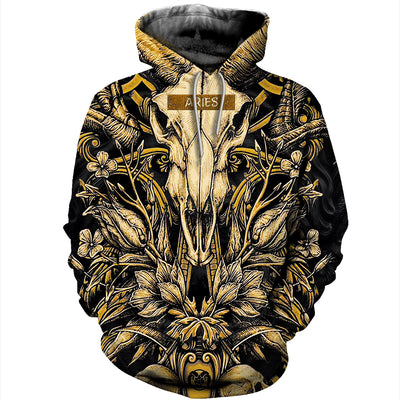 3D All Over Printed Aries T Shirt Hoodie 211204