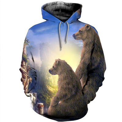 3D All Over Printed Bear T Shirt Hoodie 8120195