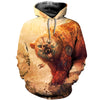 3D All Over Printed Bear T Shirt Hoodie 8120196