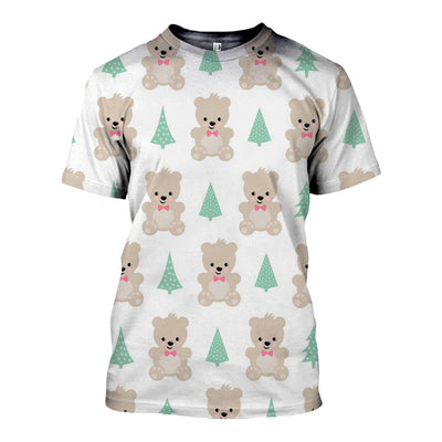3D All Over Printed Bear T Shirt Hoodie 8120198