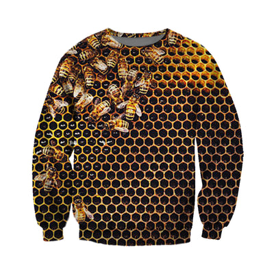 3D All Over Printed Bee T Shirt Hoodie 22121