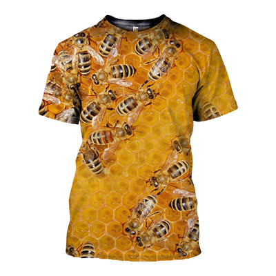 3D All Over Printed Bee T Shirt Hoodie 221210