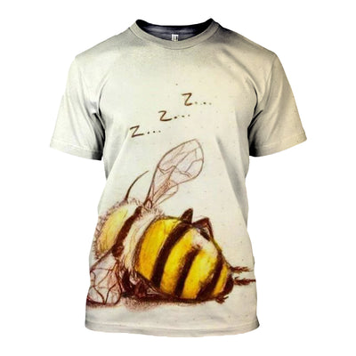 3D All Over Printed Bee T Shirt Hoodie 221213