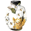 3D All Over Printed Bee T Shirt Hoodie 221218