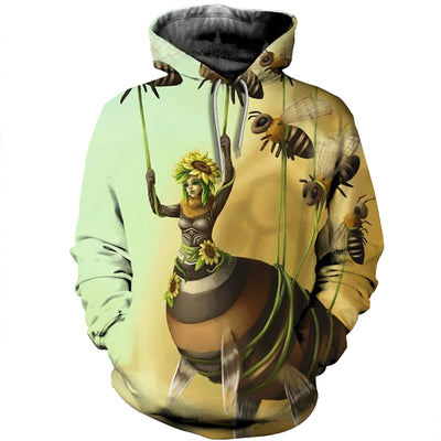 3D All Over Printed Bee T Shirt Hoodie 221219