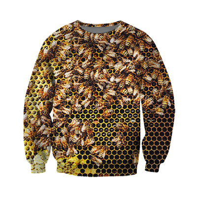 3D All Over Printed Bee T Shirt Hoodie 22122