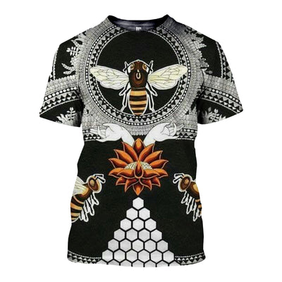 3D All Over Printed Bee T Shirt Hoodie 22125