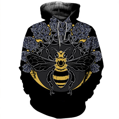 3D All Over Printed Bee T Shirt Hoodie 22126