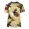 3D All Over Printed Bee T Shirt Hoodie 22128