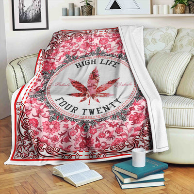 HIGH LIFE FOUR TWENTY HIPPIE FLEECE BLANKET
