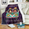 ON A DARK DESERT HIGHWAY COOL WIND IN MY HAIR HIPPIE FLEECE BLANKET
