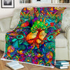 HIPPIE COLOURFUL TREE OF LIFE WORLD IN FLEECE BLANKET