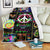 HIPPIE PEACE & LOVE IN MESSY VIVID PUZZLES 2 FLEECE BLANKET