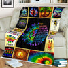 HIPPIE MOTIVATIONAL QUOTE IN COLOURFUL PUZZLES FLEECE BLANKET