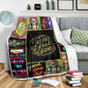 HIPPIE PEACE & LOVE IN MESSY VIVID PUZZLES FLEECE BLANKET