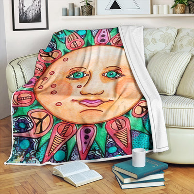 HIPPIE WONDERFUL & FABULOUS SUN IN FLEECE BLANKET