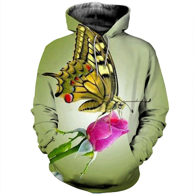 3D All Over Printed Butterfly T Shirt Hoodie 2112