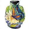3D All Over Printed Butterfly T Shirt Hoodie 21121