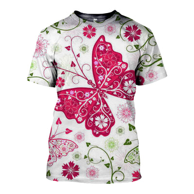 3D All Over Printed Butterfly T Shirt Hoodie 211213