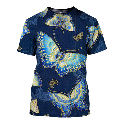 3D All Over Printed Butterfly T Shirt Hoodie 21127