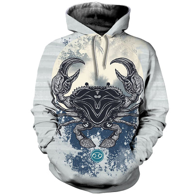 3D All Over Printed Cancer Zodiac Hoodie T Shirt