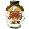 3D All Over Printed Cancer Zodiac Hoodie T Shirt 12115