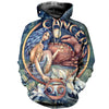 3D All Over Printed Cancer Zodiac Hoodie T Shirt 12119