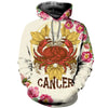 3D All Over Printed Cancer Zodiac T Shirt Hoodie 221203