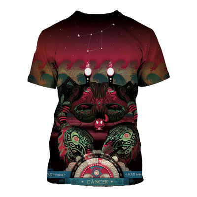3D All Over Printed Cancer Zodiac T Shirt Hoodie 221204
