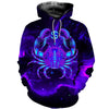 3D All Over Printed Cancer Zodiac T Shirt Hoodie 221207