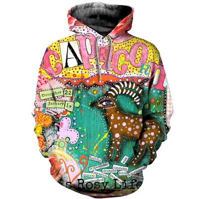 3D All Over Printed Capricorn Zodiac T Shirt Hoodie 20109