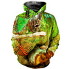 3D All Over Printed Chameleon T Shirt Hoodie 171203
